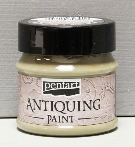 Antiquing Paint - Cremiges Grün - 50 ml