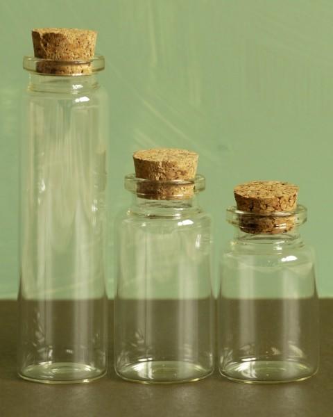 Glasflaschen - klar (3 St.)