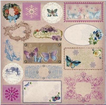 DCWV Designpapier Schmetterlinge 5 (30 x 30 cm)