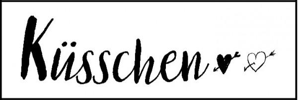 Stempel Kusschen Spruche Schriften Stempel Lablanche Webshop