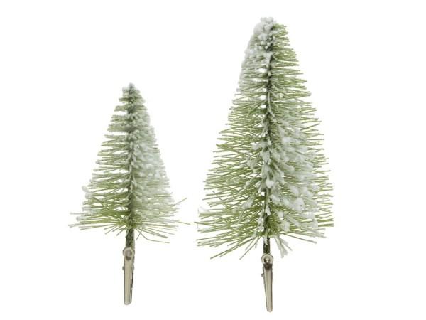 Borstenbäume/Tannenbäume (4 St.) mit Clip