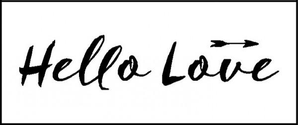 """Stempel """"Hello Love"""""""