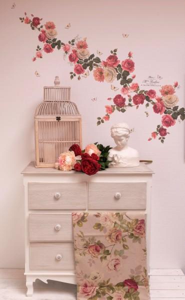 Wandtattoo WAnddeko Rosen Wandrosen rote rosa | LaBlanche Webshop