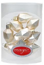 Weihnachtskugeln Diamant - 4,5 cm, champagner (10 St.)