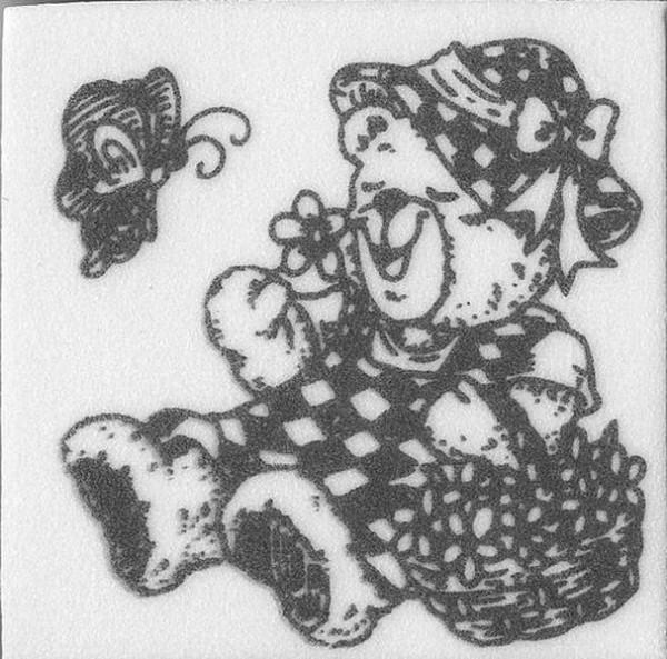 "Stempel ""Teddy mit Korb"" 2"