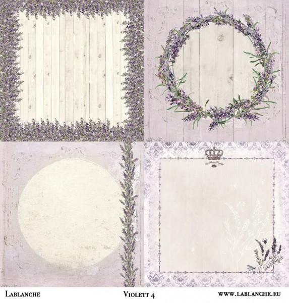 "Designpapier ""Violett"" 4"