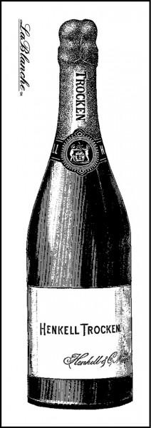 "Stempel ""Champagnerflasche"""