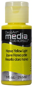 Media Fluid Acrylics - Hansa Yellow Light