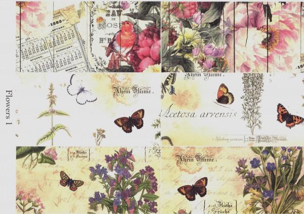 "Natural Papier ""Flowers I"""