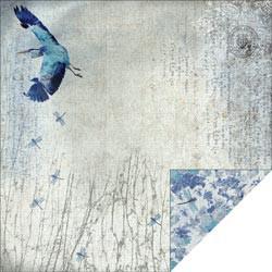 """Designpapier """"Blue Heron"""" 1 (30,5 x 30,5 cm)"""