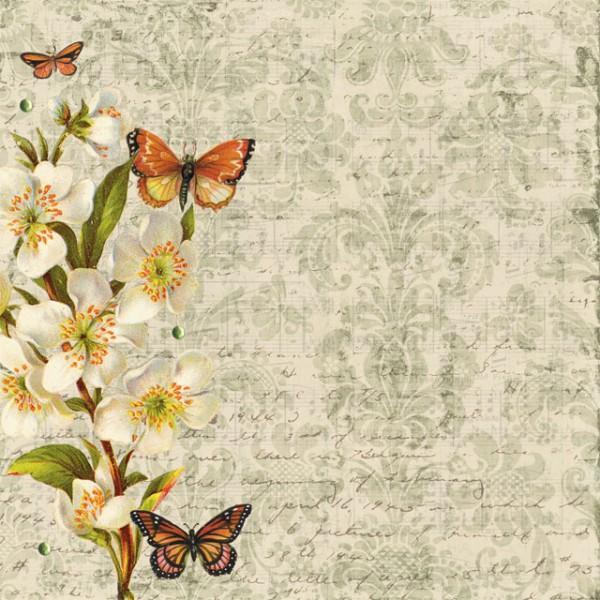 DCWV Designpapier Schmetterlinge (30 x 30 cm)