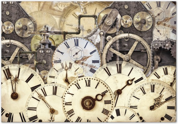 """Reispapier """"Uhren & Zahnräder"""""""