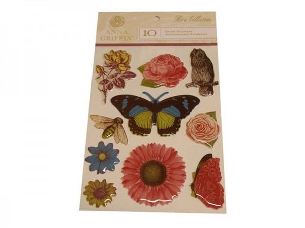 """Anna Griffin Epoxy Sticker """"Flora"""""""
