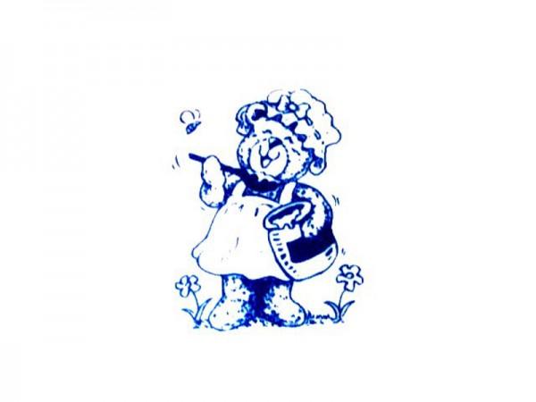 "Stempel ""Teddy mit Honig"""