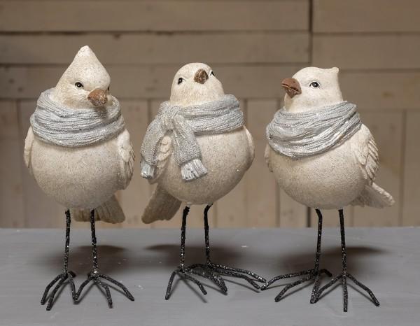 Vogel mit Schal - groß