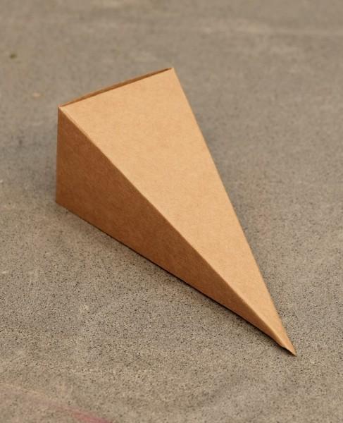 "Faltschachtel ""Spitze Pyramide"" - Braun (6 St.)"