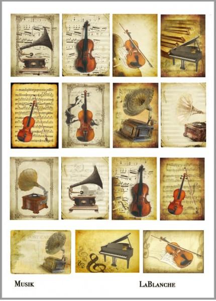 "Keramikpapier ""Musik"""