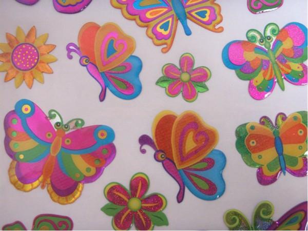 """Epoxy Hologramm Sticker """"Schmetterlinge"""""""