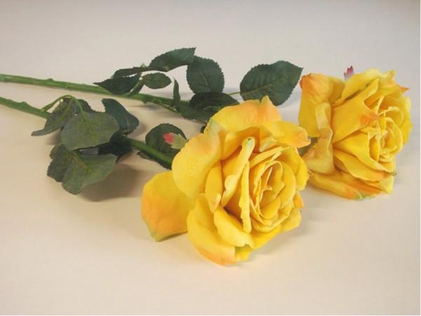 Kunstblumen Rosen - Gelb (2 Stück)