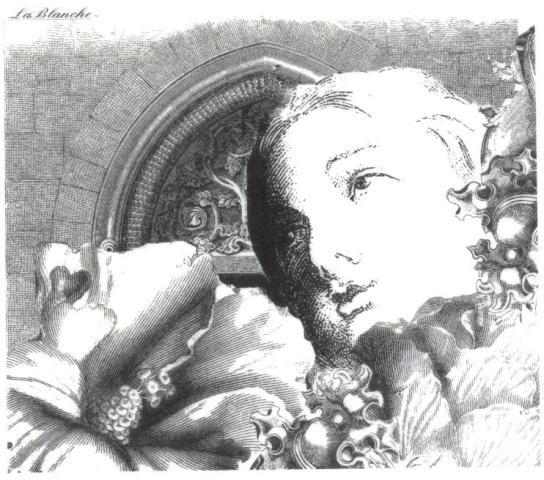 """Stempel """"Frau und Hibiskusblüten"""""""