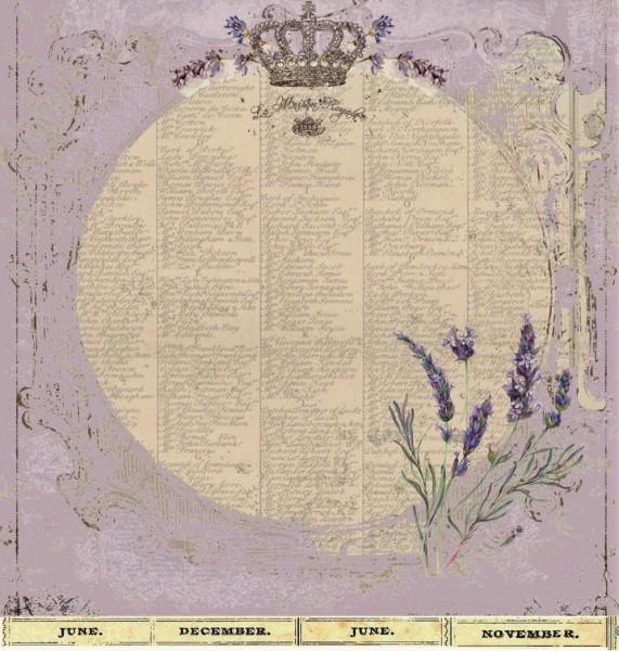 "Designpapier ""Violett"" 2"