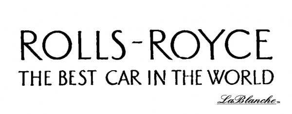 """Stempel """"Rolls-Royce"""""""
