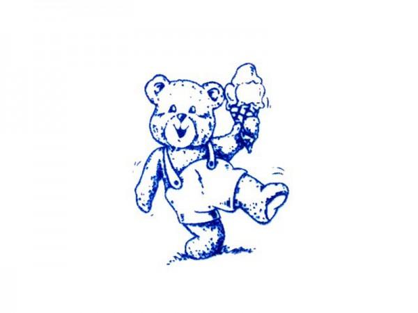 """Stempel """"Teddy mit Eis"""""""