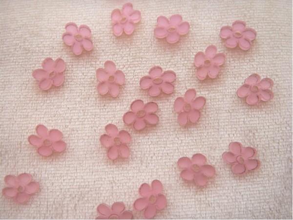 """Acryl-Blüten """"Rosa I"""" (20 Stück)"""
