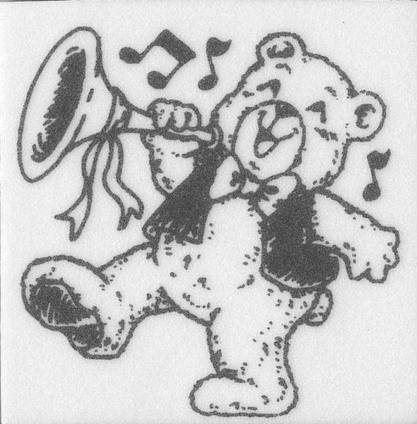 """Stempel """"Teddy mit Trompete"""""""