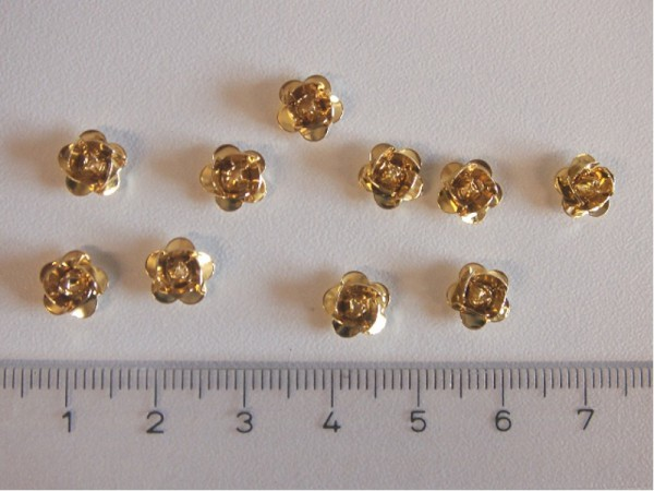 Metallrosen - Gold