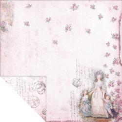 """Designpapier """"Pink Lady & Children"""" (30,5 x 30,5 cm)"""