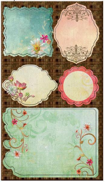 Prima Fairy Flora Chipboard Leinwand