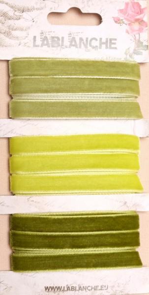 Samtbänder - Grün (3 St.)