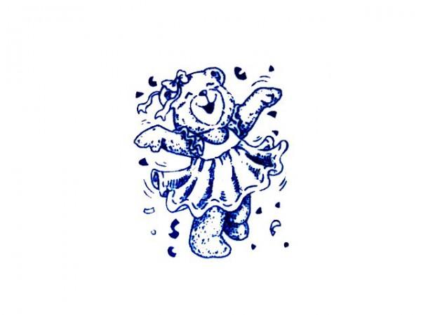 """Stempel """"Teddy als Ballerina"""" 1"""