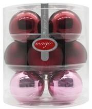 Weihnachtskugeln - 7,5 cm, Berry Kiss (12 St.)