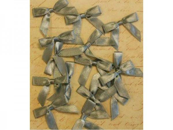 Satinschleifen - Silber matt