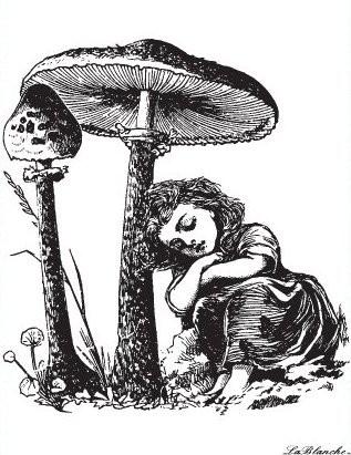"""Stempel """"Mädchen unter Pilz"""""""