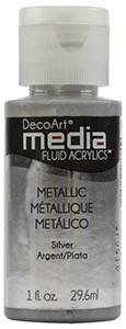 Media Fluid Acrylics Metallic - Silver