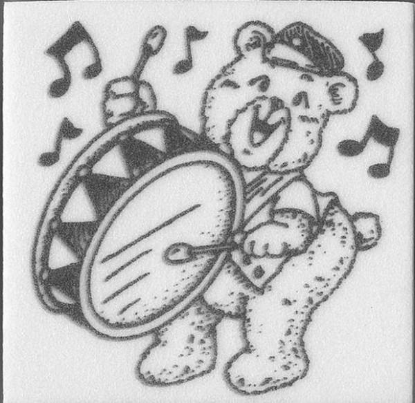 "Stempel ""Teddy mit Trommel"""