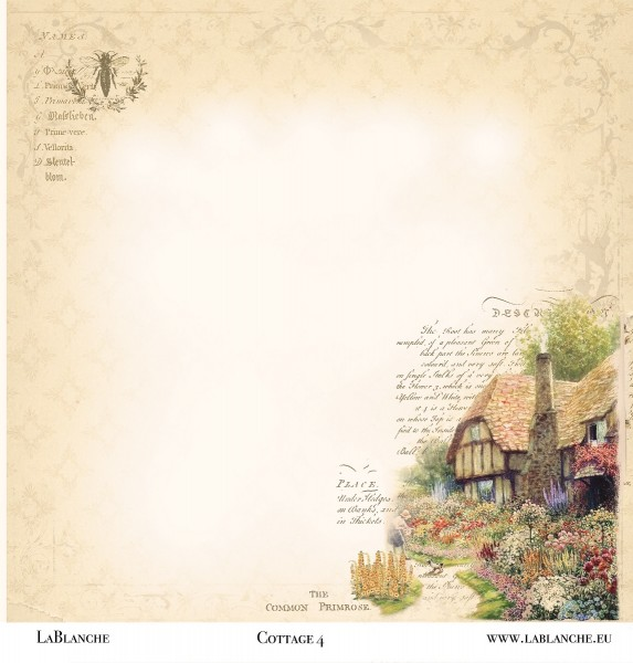 "Designpapier ""Cottage"" 4"