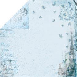 """Designpapier """"Blue Cathedral"""" (30,5 x 30,5 cm)"""