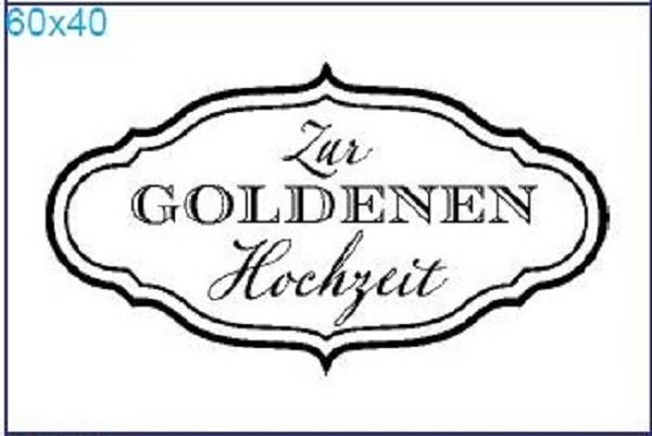 """Stempel """"Zur Goldenen Hochzeit"""""""
