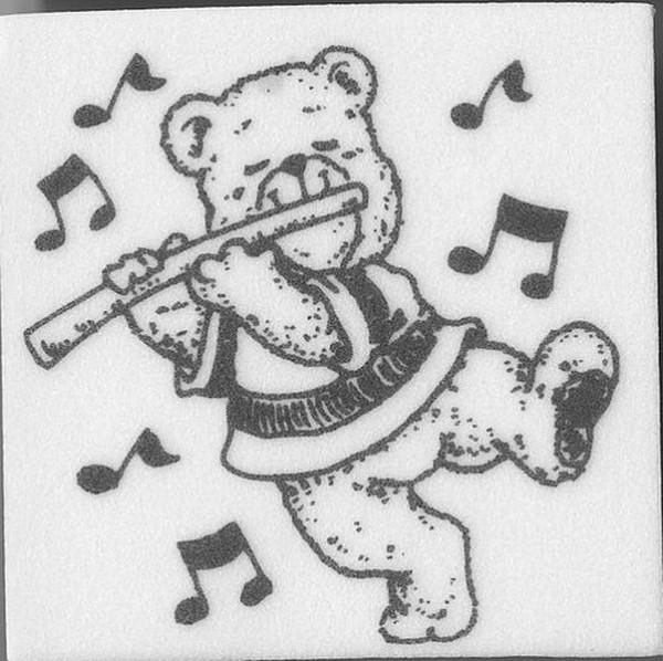 "Stempel ""Teddy mit Flöte"""