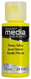 Media Fluid Acrylics - Primary Yellow