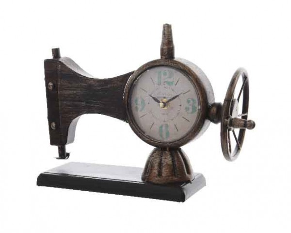 Vintage Nähmaschinen-Uhr