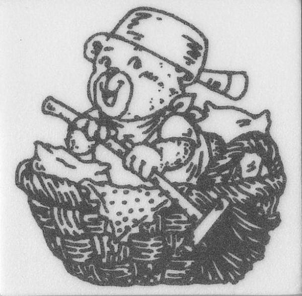 "Stempel ""Teddy im Korb"""