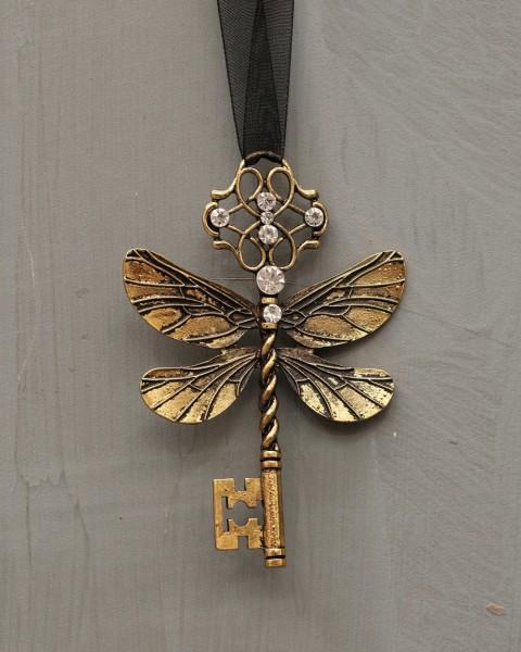 "Schlüssel ""Libelle"" - Gold"