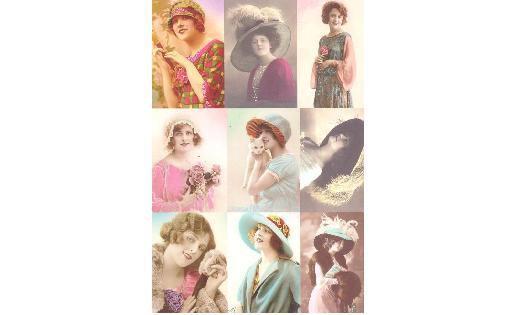 Keramikpapier mit Portraits I