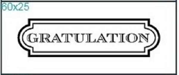 """Stempel """"Gratulation"""""""
