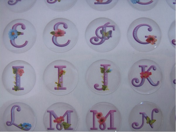 "Epoxy Sticker ""ABC"" - Lila"